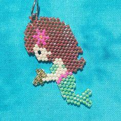 Little mermaid collection: Zebrena #mermaid #mermaidjewelry #brickstitch #beadwork #beadedmermaid #beadedjewelry #miyukibeads #miyuki #miyukidelica #delicaseedbeads #delicas