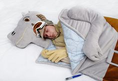 Tauntaun Sleeping Bag- complete with lightsaber zipper pull!