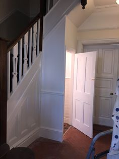Newly built under stairs toilet looks part of the original 1919 house. The walls and skirting re-touched to perfection