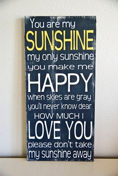 Now I can hang it up in my hallway in case I ever forget the words on a gloomy day!