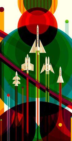 NASA Poster Phone Wallpaper