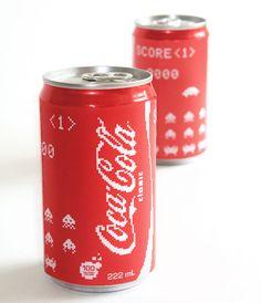Coca cola space inveder