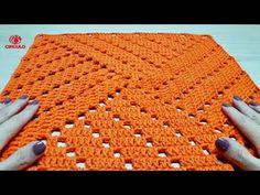 Square Easy Crochet for Rugs Crochet Blocks, Granny Square Crochet Pattern, Crochet Squares, Crochet Granny, Filet Crochet, Crochet Motif, Crochet Designs, Crochet Doilies, Crochet Stitches