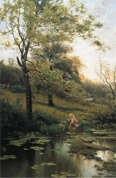 Arthur Parton - By the Lily Pond