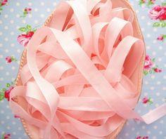 Ballet Pink Vintage Style Seam Binding Ribbon-seam binding, pink, ballet, ribbon, silky, sewing, vintage, embellishment, trim, rayon, sachets, shabby chic, sewing, scrapbooking