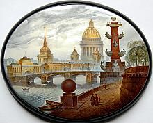 "Monashov Vladimir ""Saint-Petersburg"" - box, Fedoskino lacquer technique. $1825.00"