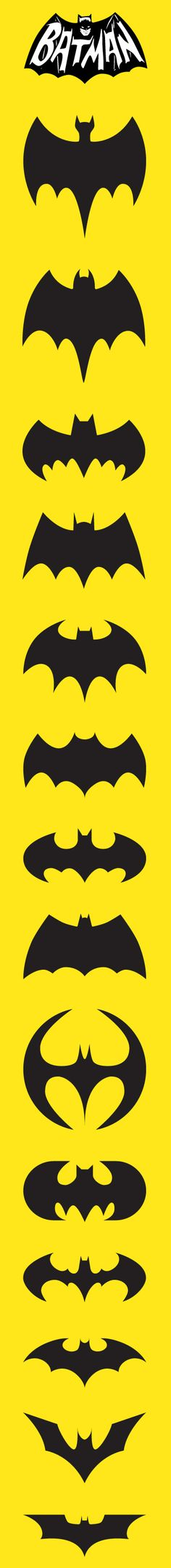 Bat logos on yellow