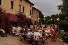 cena all'aperto matromonio country chic