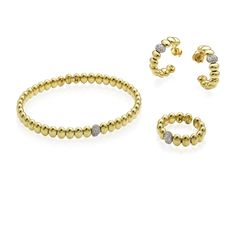 CHIMENTO Armillas Acqua bracelet, ring and earrings