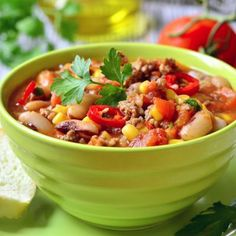 How To Make The Best Chili Ever Recipe Main Dishes with ground beef, tomato paste, tomatoes, water, celery stick, red bell pepper, chili powder, cumin, onions, pepper, salt