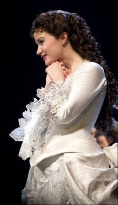 the beautiful Sierra Boggess at The Phantom of the Opera Broadway 25th Anniversary