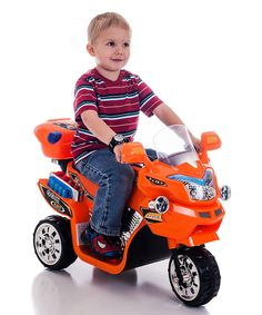 Look at this #zulilyfind! Orange FX 3 Motorcycle Ride-On by Lil' Rider #zulilyfinds