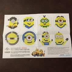 minions perler bead bucket instructions and patterns - carefree crafts