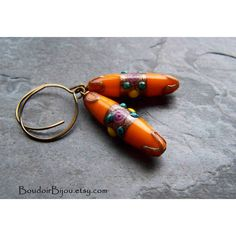 Store Closing, Boho Earrings-Boho Jewelry-Rare Glass-Vintage Glass... ❤ liked on Polyvore featuring jewelry