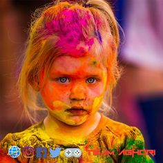 Holi Images Hd, Happy Holi Images, Cute Babies, Carnival, Face, Painting, Style, Swag, Carnavals