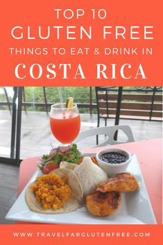 Top 10 gluten free things to eat and drink in Costa Rica! Travel Far Gluten Free Free Things, Costa Rica, Drinks, Eat, Places, Ethnic Recipes, Vacations, Bucket, Travel