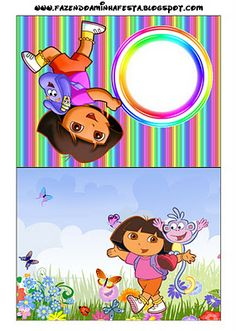 Dora the Explorer: Invitations and Free Party Printables.