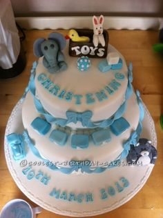 Coolest Christening Cake ...This website is the Pinterest of birthday cakes