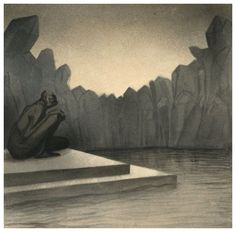 04. ALFRED KUBIN - EL GUARDIAN - Gardien (The Guardian), 1902-03 pen,ink,wash,watercolour