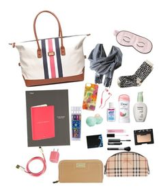 """""""Untitled #519"""" by anne-archer03 ❤ liked on Polyvore featuring Tommy Hilfiger, Mead, Kate Spade, Eos, Burberry, NARS Cosmetics, Nine West, Banana Republic, MAC Cosmetics and Skullcandy"""