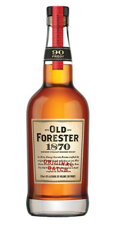 Flavor of baking spices (clove, cinnamon and nutmeg) flows into a citrus-fruit mix and shortbread sweetness. Old Forester 1870 has a soft finish, with lingering fruit and spice character. – Distiller's Notes