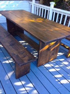 Sets Two Benches & A Table by SabzzDesign on Etsy