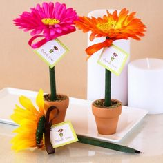 mini flower pot with candy favor - Google Search