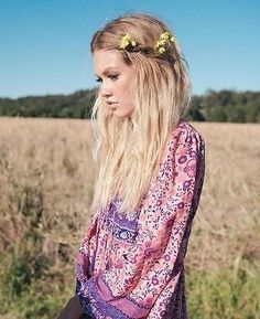 """Boho Maxi Dress """"Folk Town"""" Pink & Purple Floral Peasant Sleeved Long Festival Gown Small Medium Or Large"""