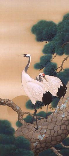 KAWAI Gyokudo (1873-1957), Japan 川合玉堂, was the pseudonym of a Japanese painter in the nihonga school, active from Meiji through Shōwa period Japan. His real name was Kawai Yoshisaburō. Gyokudō is noted for his polychrome and occasionally monochrome works depicting the mountains and rivers of Japan in the four seasons, with humans and animals shown as part of the natural landscape.In 1940, he was awarded the Order of Culture by the Japanese government.