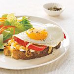 Open-Face Egg and Brie Sandwiches Recipe | MyRecipes.com