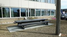 Picknickset Standaard Antraciet-Beton XL bij Spring Exploitatie Services BV in Barendrecht Xl, Dining Bench, Furniture, Home Decor, Dining Room Bench, Table Bench, Interior Design, Home Interior Design, Arredamento