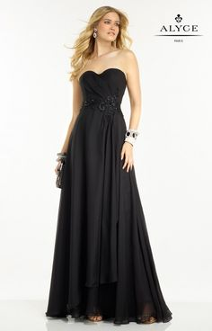 Alyce Paris Prom 2016 Bdazzle #35783 www.thecastlepromandbridal.com  Little black dress alert!  Color choices: Black Solid Diamond White Solid Hush/Silver Pink Coral Solid Red/Silver