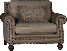 Wonderful Mayo Furniture 4300LF Leather/Fabric Chair   Ocala Pecan Bedroom Chair,  Sofa Chair,
