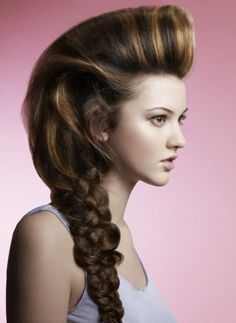 Boisterous hairstyle with massive messy braid