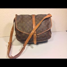 "Selling this ""Louis Vuitton Saumur 35  Crossbody Messenger Bag"" in my Poshmark closet! My username is: deepeevintage. #shopmycloset #poshmark #fashion #shopping #style #forsale #Louis Vuitton #Handbags"