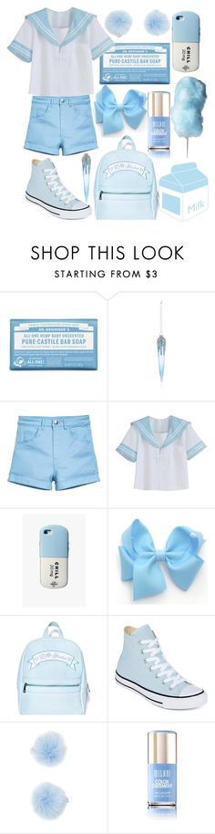 """Blue Baby"" by drhumanguy ❤ liked on Polyvore featuring Dr. Bronner's, Bloomingdale's, Valfré, Sugarbaby, Converse, Forever 21, cute, pastel, lolita and japanese"