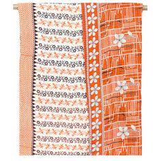 Vintage Kantha Throw Blanket - Rust Love