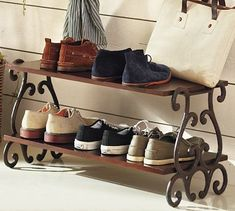 Love this for my front entryway!  Moran Shoe Rack #potterybarn