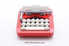 BricksBen - LEGO Typewriter - 1 by BricksBen, via Flickr