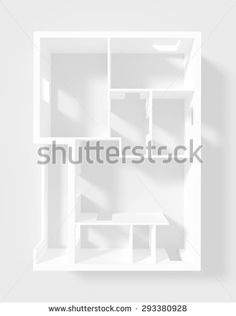 #Stock #image: #3d #interior #rendering of #empty #roofless #apartment #shutterstock