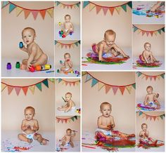 """Smash the Paint"" alternative instead of the normal cake smash for first year shoots. Splash Photography, Cake Smash Photography, Birthday Photography, Photography Ideas, Birthday Painting, Baby Painting, First Birthday Pictures, Boy First Birthday, 1st Birthday Cake Smash"