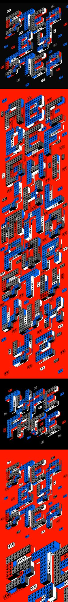 STEP BY STEP TYPEFACE by SHORT , via Behance    use of lego/toys  keep in mind for photographic project