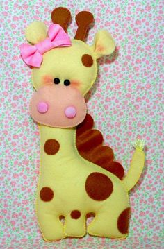 *FELT ART ~ Giraffe ....would look adorable in a baby mobil