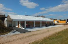 A Marquee supplied by Global Marquee hire added to the front of the Games Barn. www.globalmarqueehire.com