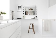 walk-in closet, wardrobe, ikea, white, stylizimo home