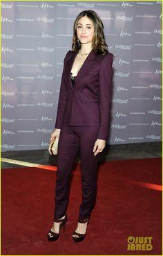 purple pant suit