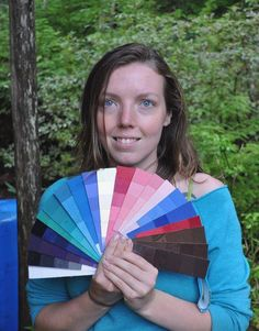 client with her palette Clear Blue Sky, Beach Picnic, Clothes Line, Art Fair, Color Theory, Slow Fashion, Night Out, Palette, Isfj