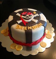 Pirate Birthday Cake.