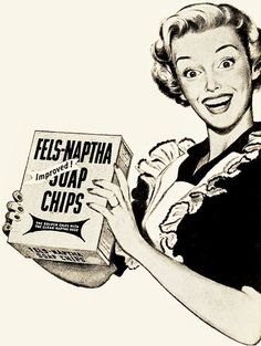 Fels-Naptha Soap Chip ad, 1950. #vintage #1950s #homemaker