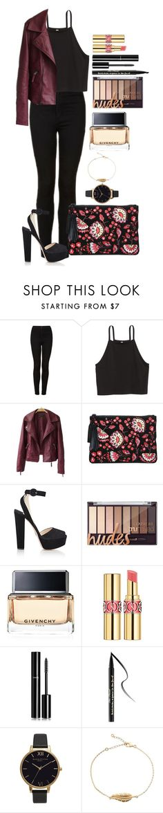 """Untitled #1551"" by fabianarveloc on Polyvore featuring Topshop, Loeffler Randall, Prada, Givenchy, Yves Saint Laurent, Chanel, Too Faced Cosmetics and Olivia Burton"